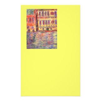 palazzos de Venise et lumière colorée Papier À Lettre Personnalisé