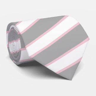 Pâles minces gris épais rougissent coutume rose de cravates