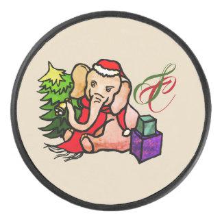 Palet De Hockey Éléphant vintage mignon de Noël de Père Noël de