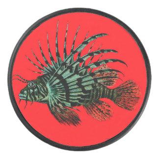 Palet De Hockey Galet d'hockey abstrait de Lionfish