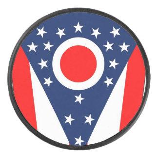 Palet De Hockey Galet d'hockey patriotique avec le drapeau de