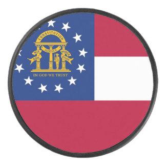 Palet De Hockey Galet d'hockey patriotique avec le drapeau de la