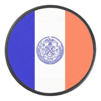 Palet De Hockey Galet d'hockey patriotique avec le drapeau de New