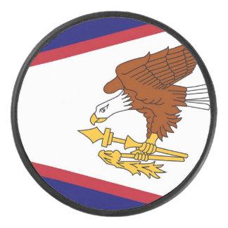 Palet De Hockey Galet d'hockey patriotique avec le drapeau des