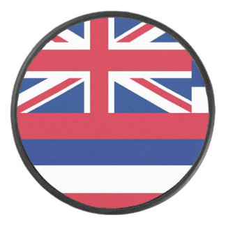 Palet De Hockey Galet d'hockey patriotique avec le drapeau d'Hawaï