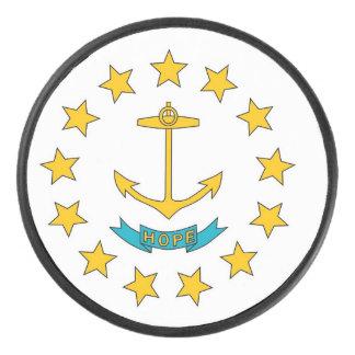 Palet De Hockey Galet d'hockey patriotique avec le drapeau d'Île