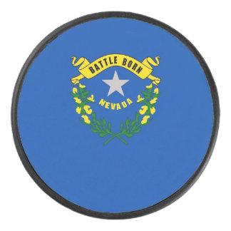 Palet De Hockey Galet d'hockey patriotique avec le drapeau du