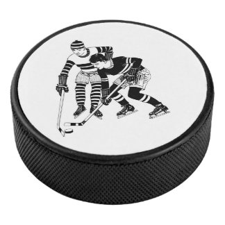 Palet De Hockey Joueurs de hockey vintages