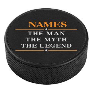 Palet De Hockey Nom personnalisé l'homme le mythe la légende