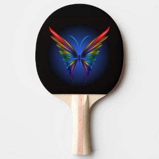 Palette abstraite de ping-pong de papillon raquette tennis de table