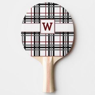 Palette blanche et rouge noire de ping-pong de raquette de ping pong