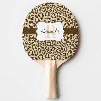Palette bronzage de ping-pong de pêche de Brown de Raquette Tennis De Table