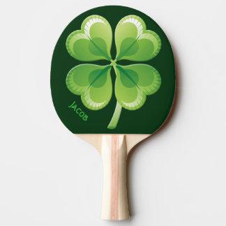 Palette chanceuse de ping-pong de shamrock raquette tennis de table