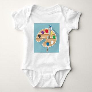 Palette d'artistes d'art de vecteur d'art de pixel t-shirts