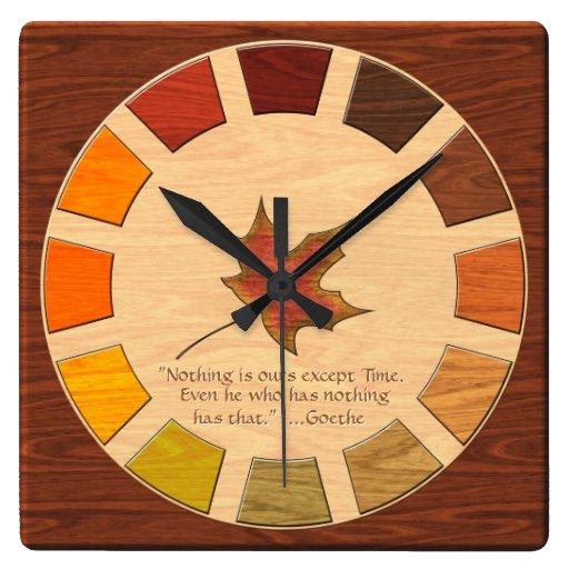 Palette de couleurs en bois horloge murale zazzle - Palette de couleur murale ...