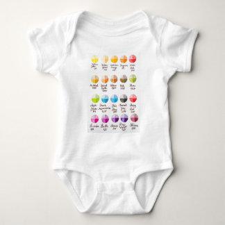 Palette de couleurs t-shirts
