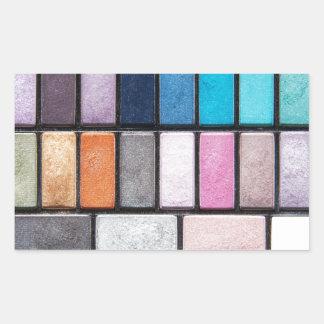 Palette de maquillage - copie de cosmétiques de sticker rectangulaire