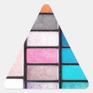 Palette de maquillage - copie de cosmétiques de sticker triangulaire