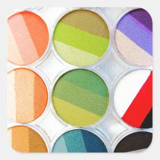 Palette de maquillage d'arc-en-ciel - copie de sticker carré