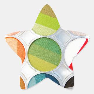 Palette de maquillage d'arc-en-ciel - copie de sticker étoile