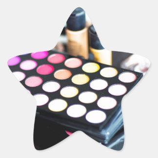 Palette de maquillage et brosses - copie de beauté sticker étoile
