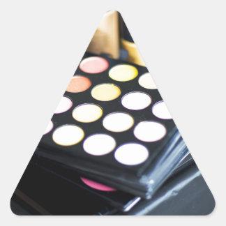 Palette de maquillage et brosses - copie de beauté sticker triangulaire