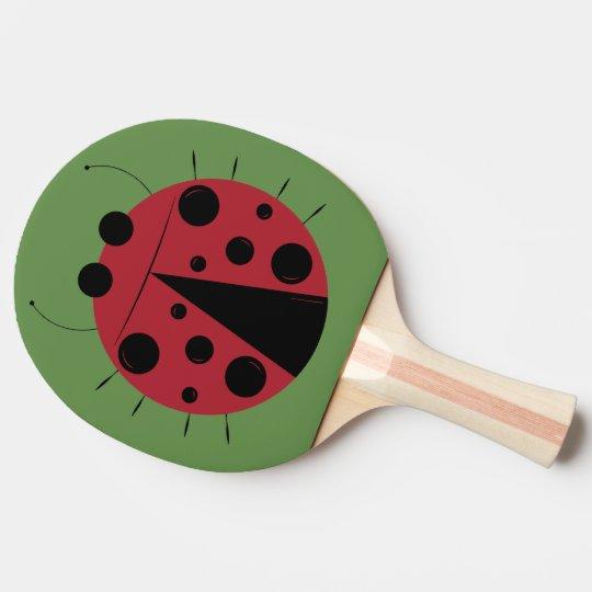 Palette de ping-pong de conception de coccinelle raquette de ping pong