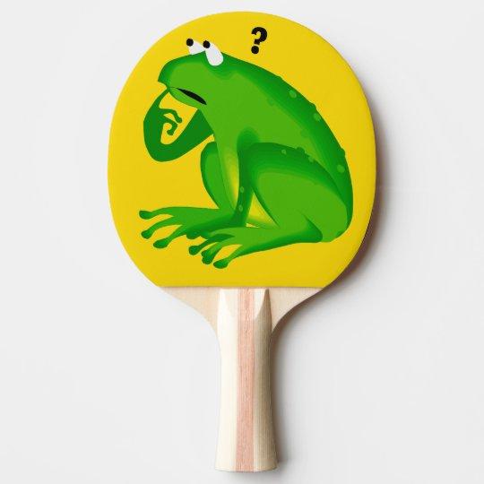 Palette de ping-pong de conception de grenouille raquette tennis de table