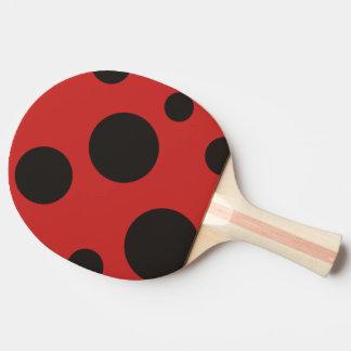 Palette de ping-pong de motif de coccinelle raquette de ping pong