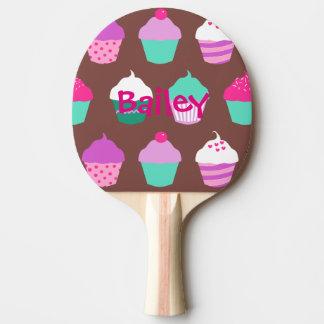 Palette de ping-pong de petits gâteaux raquette tennis de table
