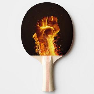 Palette de ping-pong de poing du feu raquette de ping pong