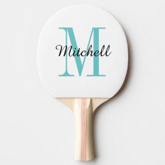 Palette de ping-pong personnalisée par monogramme raquette de ping pong