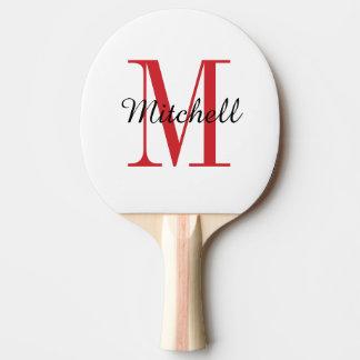 Palette de ping-pong personnalisée par monogramme raquette tennis de table
