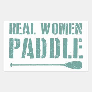 Palette de vraies femmes sticker rectangulaire