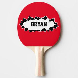 Palette déchirée drôle de ping-pong de ping-pong raquette de ping pong