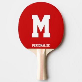 Palette décorée d'un monogramme de ping-pong pour raquette tennis de table
