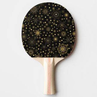 Palette d'or de ping-pong de motif raquette tennis de table