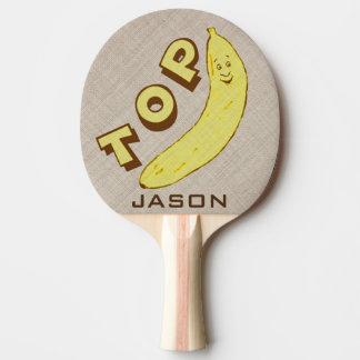 Palette drôle faite sur commande de ping-pong de raquette tennis de table