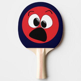 Palette drôle rouge de ping-pong de visage raquette tennis de table
