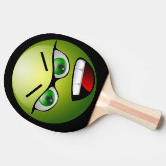 Palette fâchée drôle de ping-pong de noir de vert raquette de ping pong