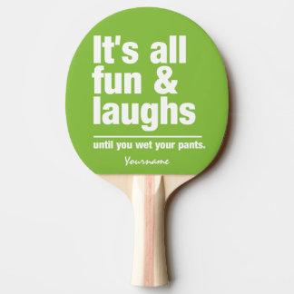 Palette faite sur commande de ping-pong de couleur raquette tennis de table