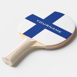 Palette faite sur commande de ping-pong de drapeau raquette de ping pong