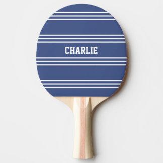 Palette faite sur commande marine de monogramme de raquette tennis de table