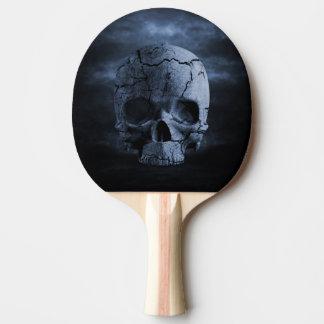 Palette gothique de ping-pong de crâne raquette tennis de table