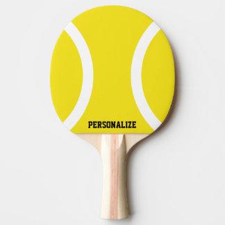 Palette jaune de ping-pong de boule pour le raquette tennis de table