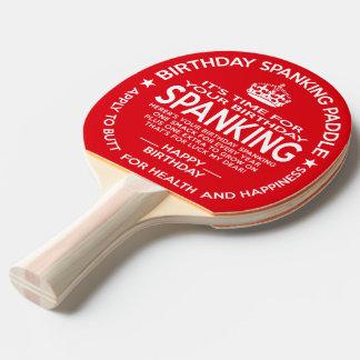Palette officielle de fessée d'anniversaire raquette tennis de table