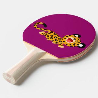 Palette plaisante de ping-pong de léopard de bande raquette tennis de table