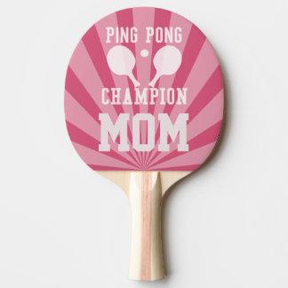 Palette rose de champion du ping-pong de la maman, raquette tennis de table