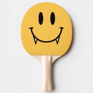 Palette souriante de ping-pong de vampire raquette tennis de table
