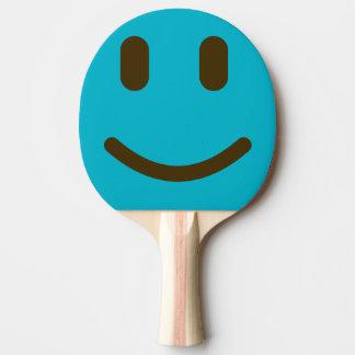 Palette souriante de ping-pong de visage raquette de ping pong